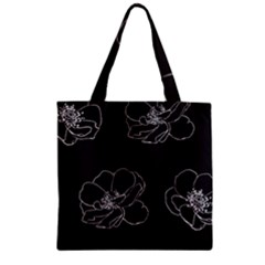 Rose Wild Seamless Pattern Flower Zipper Grocery Tote Bag by Nexatart