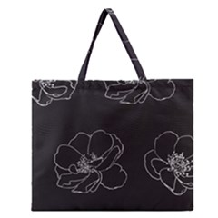 Rose Wild Seamless Pattern Flower Zipper Large Tote Bag by Nexatart