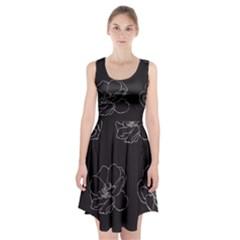 Rose Wild Seamless Pattern Flower Racerback Midi Dress