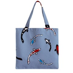 Koi Carp East Vector Seamless Grocery Tote Bag