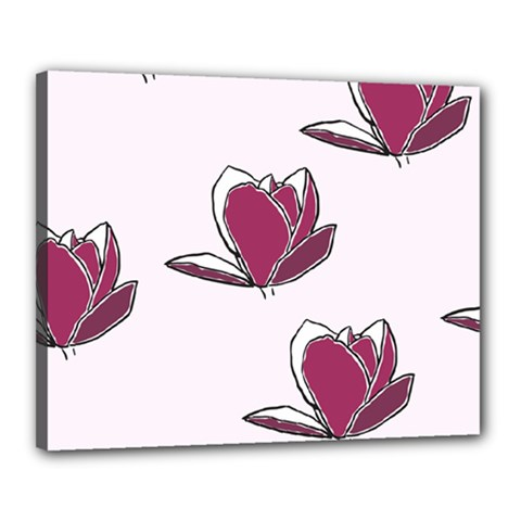 Magnolia Seamless Pattern Flower Canvas 20  X 16