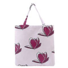 Magnolia Seamless Pattern Flower Grocery Tote Bag