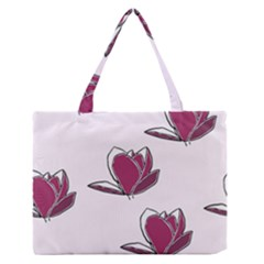 Magnolia Seamless Pattern Flower Medium Zipper Tote Bag