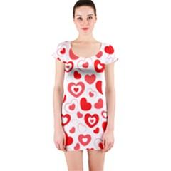 Cards Ornament Design Element Gala Short Sleeve Bodycon Dress