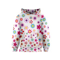 Floral Flowers Background Pattern Kids  Pullover Hoodie