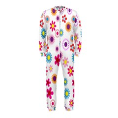Floral Flowers Background Pattern Onepiece Jumpsuit (kids)