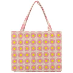 Pattern Flower Background Wallpaper Mini Tote Bag