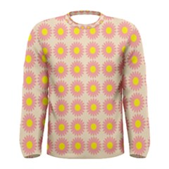 Pattern Flower Background Wallpaper Men s Long Sleeve Tee