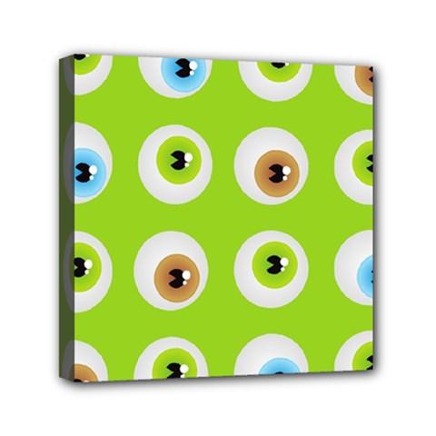 Eyes Background Structure Endless Mini Canvas 6  X 6  by Nexatart