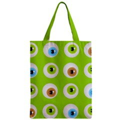 Eyes Background Structure Endless Zipper Classic Tote Bag by Nexatart