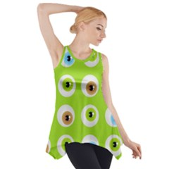 Eyes Background Structure Endless Side Drop Tank Tunic