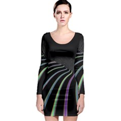 Graphic Design Graphic Design Long Sleeve Bodycon Dress