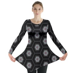 Mandala Calming Coloring Page Long Sleeve Tunic