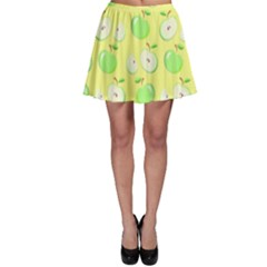 Apples Apple Pattern Vector Green Skater Skirt