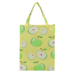 Apples Apple Pattern Vector Green Classic Tote Bag