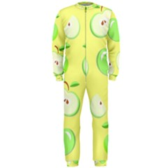 Apples Apple Pattern Vector Green Onepiece Jumpsuit (men)