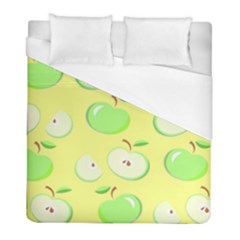 Apples Apple Pattern Vector Green Duvet Cover (full/ Double Size)