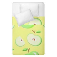 Apples Apple Pattern Vector Green Duvet Cover Double Side (single Size) by Nexatart