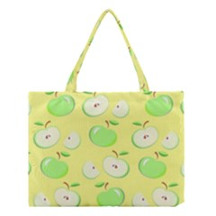Apples Apple Pattern Vector Green Medium Tote Bag by Nexatart