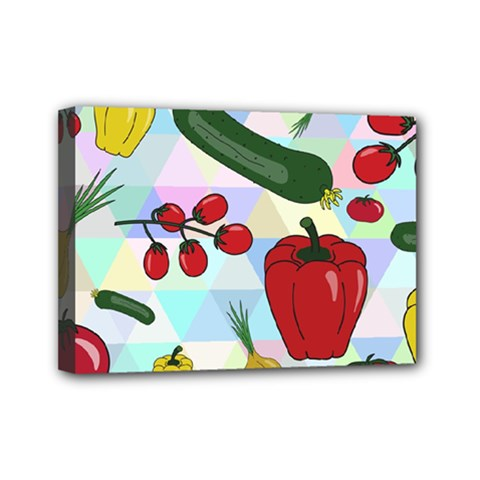 Vegetables Cucumber Tomato Mini Canvas 7  X 5  by Nexatart
