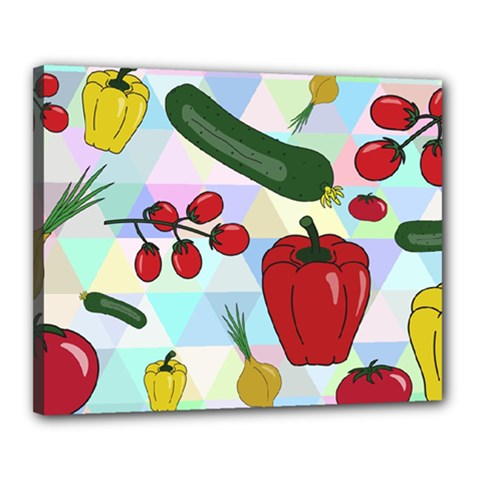 Vegetables Cucumber Tomato Canvas 20  X 16