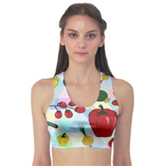 Vegetables Cucumber Tomato Sports Bra