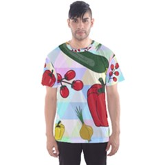 Vegetables Cucumber Tomato Men s Sport Mesh Tee