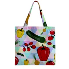 Vegetables Cucumber Tomato Grocery Tote Bag by Nexatart