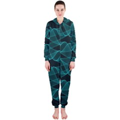 Pattern Vector Design Hooded Jumpsuit (ladies)
