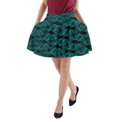 Pattern Vector Design A Line Pocket Skirt