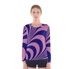 Fractals Vector Background Women s Long Sleeve Tee
