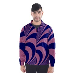 Fractals Vector Background Wind Breaker (men)