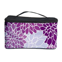 Floral Wallpaper Flowers Dahlia Cosmetic Storage Case