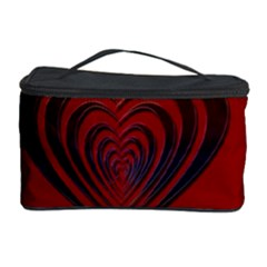 Red Heart Colorful Love Shape Cosmetic Storage Case by Nexatart