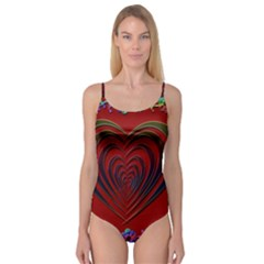 Red Heart Colorful Love Shape Camisole Leotard
