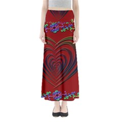 Red Heart Colorful Love Shape Maxi Skirts