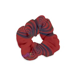 Red Heart Colorful Love Shape Velvet Scrunchie