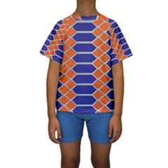 Pattern Design Modern Backdrop Kids  Short Sleeve Swimwear