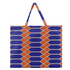 Pattern Design Modern Backdrop Zipper Large Tote Bag