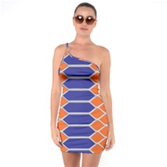 Pattern Design Modern Backdrop One Soulder Bodycon Dress