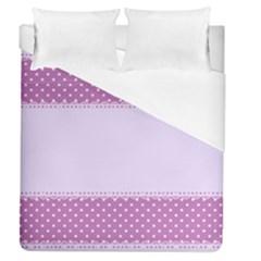 Purple Modern Duvet Cover (queen Size) by Nexatart