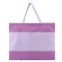 Purple Modern Zipper Large Tote Bag