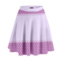 Purple Modern High Waist Skirt