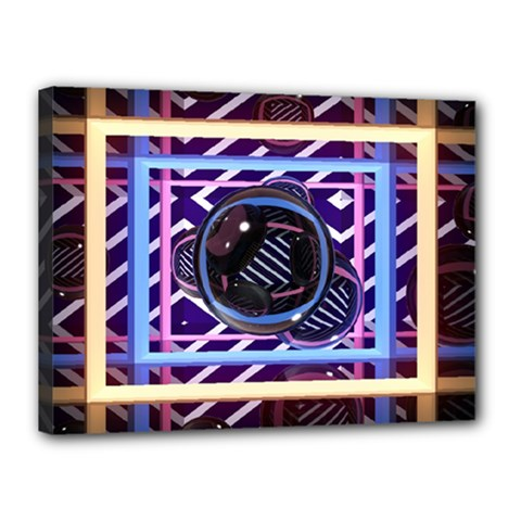 Abstract Sphere Room 3d Design Canvas 16  X 12  by Nexatart