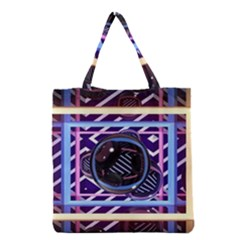 Abstract Sphere Room 3d Design Grocery Tote Bag by Nexatart