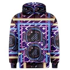 Abstract Sphere Room 3d Design Men s Zipper Hoodie
