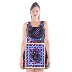 Abstract Sphere Room 3d Design Scoop Neck Skater Dress