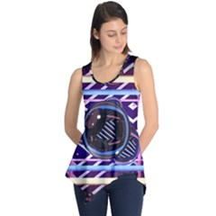 Abstract Sphere Room 3d Design Sleeveless Tunic