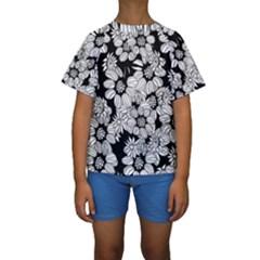 Mandala Calming Coloring Page Kids  Short Sleeve Swimwear