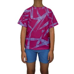Background Vector Texture Pattern Kids  Short Sleeve Swimwear